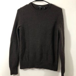 Theory 100% Cashmere Brown Sweater Size L